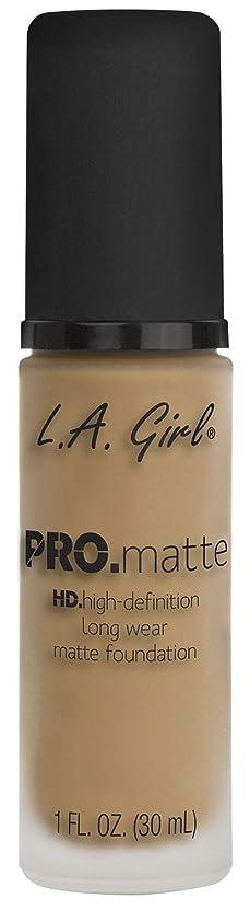 エンドテーブル詳細な定数L.A. GIRL Pro Matte Foundation - Sandy Beige (並行輸入品)