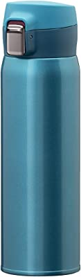 Atlas(アトラス) 水筒 【Airlist】中栓が分解できる 超軽量 ワンタッチボトル 国内最軽量クラス 495ml グリーン AREW-500GR 汚れやニオイがつきにくい