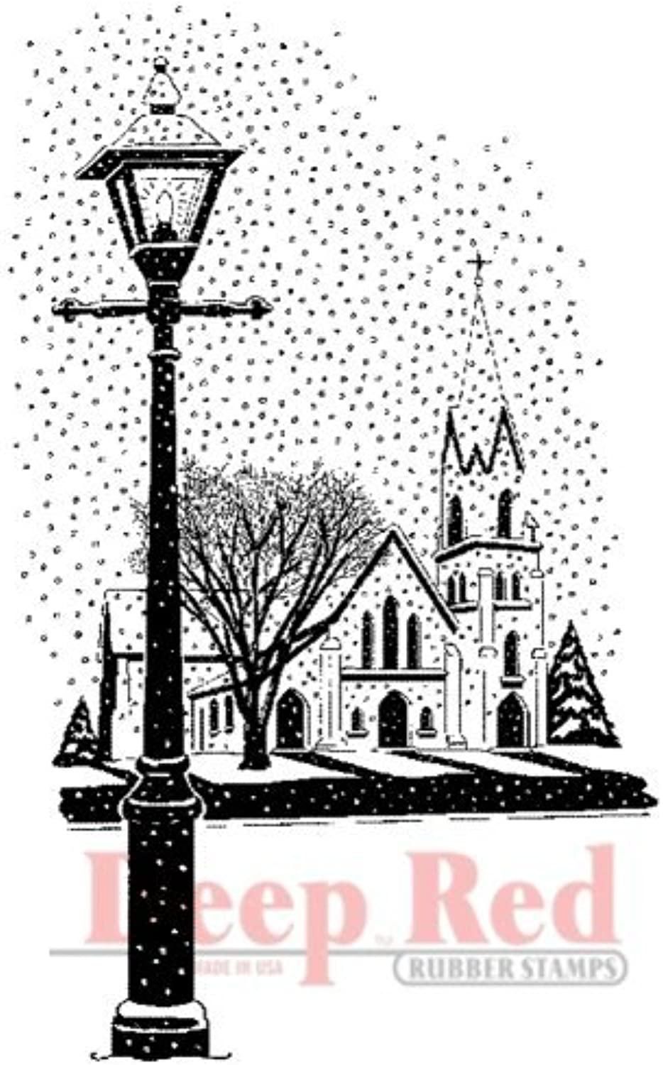 Deep rot Stamps Winter Church Rubber Stamp by Deep rot rot rot Stamps B0149H8EDY | Elegantes Aussehen