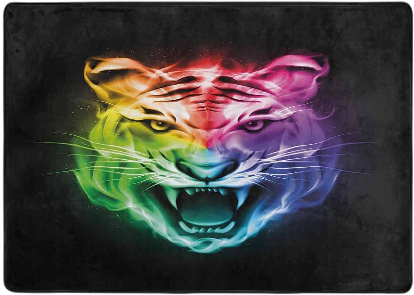 Carpet for Bedroom Lowest price challenge Multicolored Feline gift Large Abstract Rendition
