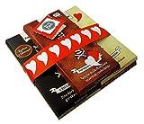 Geschenkset Idee Schokolade Herzenmotiv | zuckerfrei mit zuckerersatz Xylitol | im 5er Pack Sorten gemischt (je 100 g Tafel)