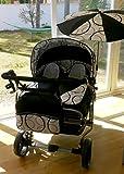 Carro gemelar 3 piezas. Capazos+sillas+grupos 0+sombrilla+accesorios. Negro+blanco+circulos. Scandinavien