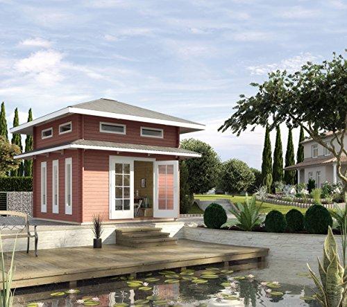 Großes Gartenhaus aus Holz 2 Etagen