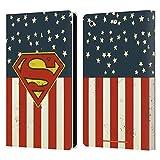 Head Case Designs Officiel Superman DC Comics Drapeau des États-Unis Logos Coque en Cuir à...