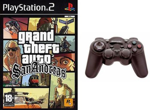 GTA San andreas + Manette PlayStation 2