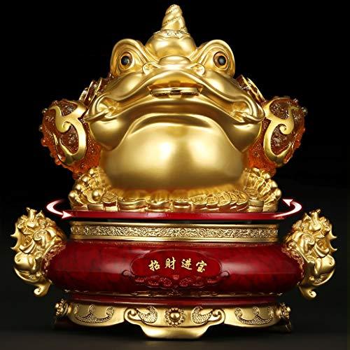 LJXLXY Feng Shui Dekoration Feng Shui Chan Chu Geld Frosch Münze Toad Wohlstand Desktop-Sammlung Skulpturen Shop Eröffnung Geschenke Home Tisch Büro Feng Shui