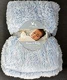 Berkshire B Adirondack Baby Blanket 30'X40' Warm & Fluffy (Blue)