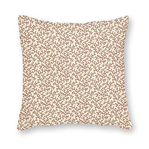Toll2452 Funda de almohada de color granate de viña coral, funda de cojín para decoración de sofá, 30,5 x 50,8 cm