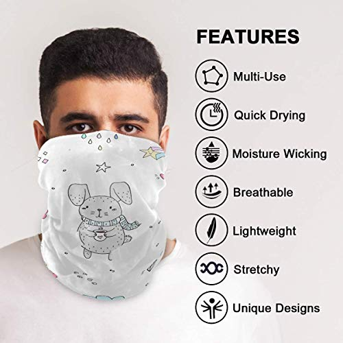 Unisex Multifunctional Headwear Face Mask, Seamless Cover Mouth Bandanas Gaiter, Sun Dust Protection Windproof Headband Neck Gaiter Warmer Balaclava