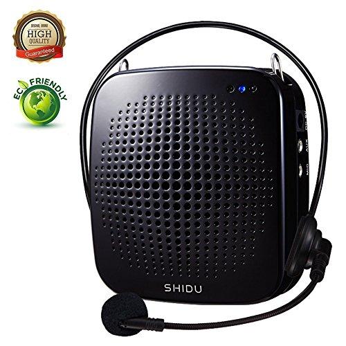 Sprachverstärker Stimmeverstärker, SHIDU Mini Tragbare wiederaufladbare Ultraleicht Stimmeverstärker Verstärker Lautsprecher loudspeaker mit Headset Mikrofon Megafon Für Lehrer Trainer Führe (S511)