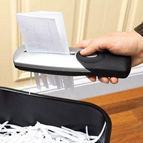 Handgerät, freistehender tragbarer Aktenvernichter (USB oder Batterien betrieben), eliminiert potenziellen Betrug, wo auch immer Sie sind