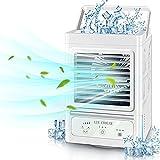 Enfriador de aire , 5000 mAh alimentado aire acondicionado portatil mini con 60 °/120 °, oscilante automático ,recargable split aire acondicionado, para Oficina Hogar