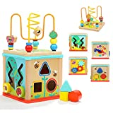Wooden Kids Baby Activity Cube - Aitey Baby Educational Learning Toys Bead Maze