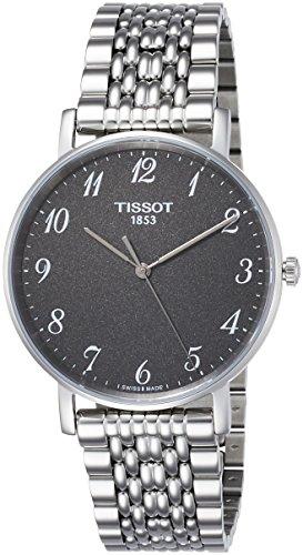 Tissot Herren Analog Quarz Everytime Medium Armbanduhr mit Edelstahl Armband T1094101107200