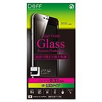 Deff iPhone 6 6s Plus 対応 液晶 保護 ガラス フィルム プレート クリア/High Grade Glass Screen Protector/DG-IP6SG3F / DG-IP6PSG3F (iPhone 6 Plus / 6s Plus, ブラック(黒))
