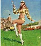 Gil Elvgren Pinup Girl Homecoming Queen p7098 A2 Canvas - Art Painting Decor...