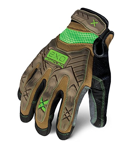 Ironclad EXO-PIG-04 Work Gloves Impact Protection Gloves Brown, Large