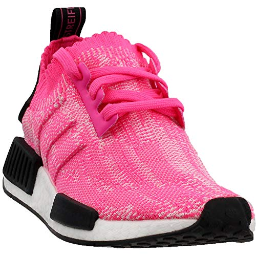 adidas Womens NMD_R1 Primeknit Casual Sneakers, Pink, 10.5