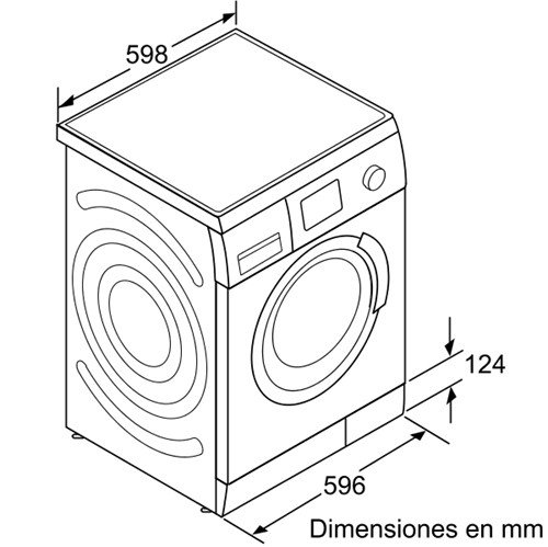 Bosch WAS20420EE Independiente Carga frontal 8kg 1000RPM A+ Blanco ...