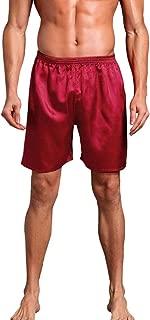iLXHD Men Silk Satin Pajama Sleepwear Homewear Robes Shorts Loungewear Underwear Beach pants casual pants
