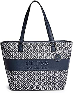 Guess Factory Women's Boscano Carryall Stylish Elegant Tote, Hand-Bag/Shoulder-Bag Pebble-Leather – Multicolor
