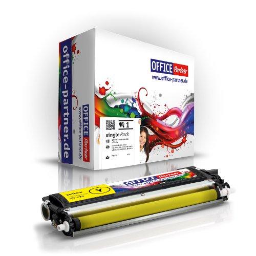 OFFICE Partner Toner kompatibel für Brother TN230Y gelb für Brother DCP-9010 DCP-9010CN HL-3040CN HL-3045CN HL-3070CN HL-3070CW HL-3075CW MFC-9120CN MFC-9125CN MFC-9320CW MFC-9325CW