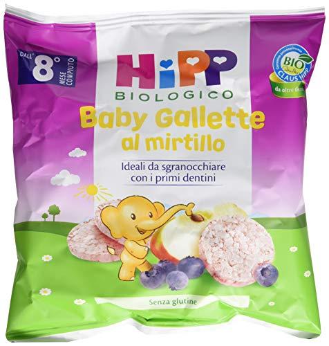 Hipp Baby Snack Gallette di Riso al Mirtillo - Confezione da 7 x 30 g