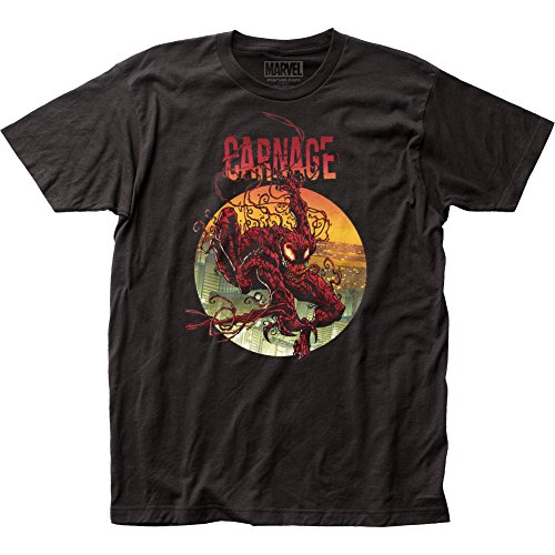 Camiseta Marvel Carnage 2 Climbing Out Circle, Preto, XL
