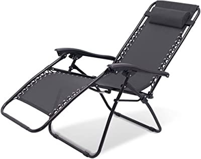Zero Gravity Chairs Sun Loungers with Headrest Reclining Garden Chair Adjustable Sunbed Deck Chairs Folding for Outdoor Patio Multi Position