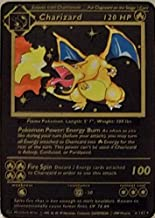 Charizard Black 1st Edition Shadowless Starter Replica Rare Metal Pokemon Card