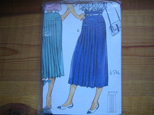 Burda Vintage mehrgrößen Schnittmuster 6576 - Damen Rock, Faltenrock - gr 36-48