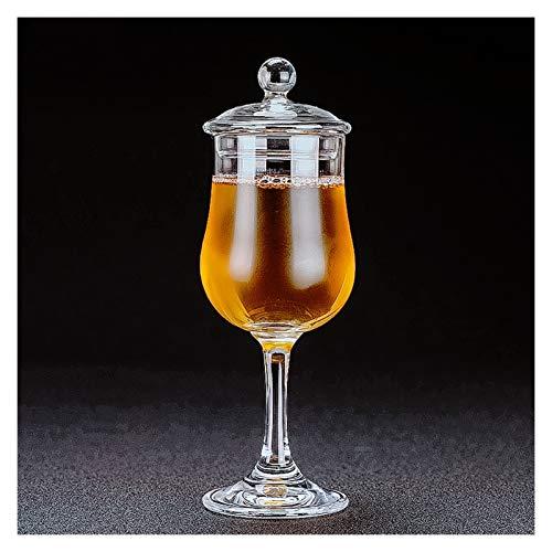 Vinglas Klassisk copita nosing glas med lock kristall tulpan form smak goblet match täcka vodka vin test kopp Avancerad och raffinerad (Capacity : 125ml, Color : Goblet with Lid)