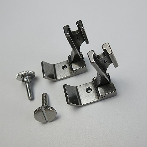 2 juegos de prensatelas para dobladillo de punta alta S542 para máquina de coser industrial Juki Ddl-5550 8500 3/4