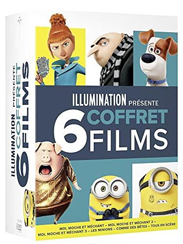 Illumination présente-Coffret 6 Films : Moi Moche et Méchant 1 à 3 + Les Minions + comme des bêtes + Tous en scène