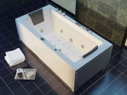 Luxus Whirlpool Badewanne 182×90 im Vollausstattung (Massage) – Sonderaktion - 3