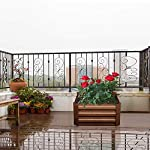 Leisurelife Metal Raised Garden Bed Planter Box Kits for Vegetables Outdoor, Steel, 2x2 ft, Brown 13 【Raised Garden Bed Size】:8x4 ft, height 1ft. No bottom 【Material】: The planter box made of color steel, waterproof and anti-rust, can be used for 10 years. 【Open-bottom】: Integrating with nature, there is no trouble with standing water.