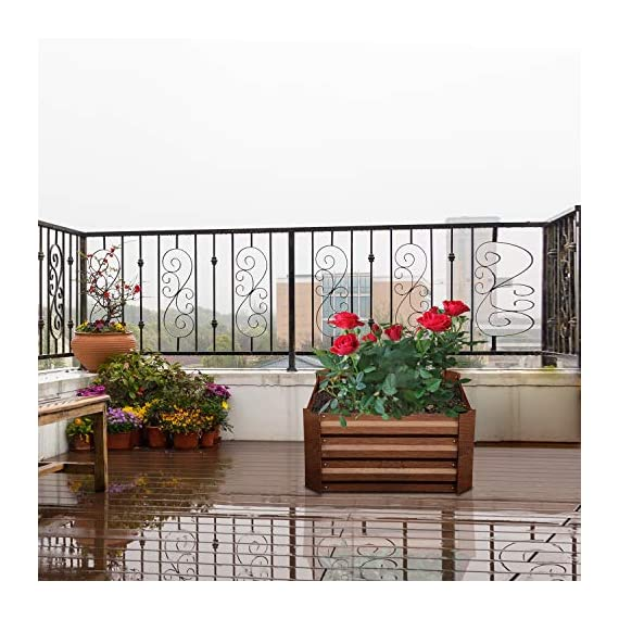 Leisurelife Metal Raised Garden Bed Planter Box Kits for Vegetables Outdoor, Steel, 2x2 ft, Brown 6 【Raised Garden Bed Size】:8x4 ft, height 1ft. No bottom 【Material】: The planter box made of color steel, waterproof and anti-rust, can be used for 10 years. 【Open-bottom】: Integrating with nature, there is no trouble with standing water.