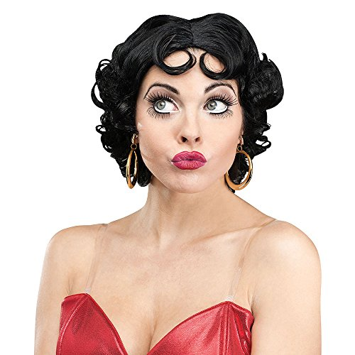 Betty Boop Ringlet Curl Adult Wig