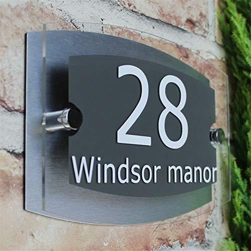 Placa exterior moderna acrílica número de puerta
