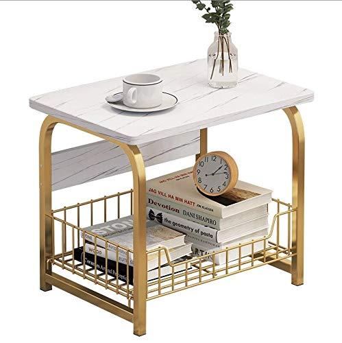 Qilo De Metal Mesita, Ronda sofá, Mesa de café, la población de Plantas, Mesa Teléfono, Muebles de la Sala de Estar/Dormitorio (40 * 30 * 42cm) (Size : 62cm)