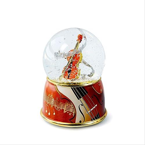 LIJUN Violinmusikbox rotiert Kristallkugel kreative Preisverleihung Musikbox
