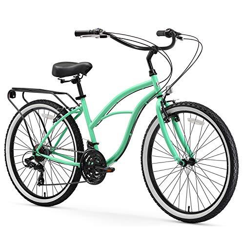 sixthreezero Around The Block Women's 21-Speed Beach Cruiser Bicycle, 24