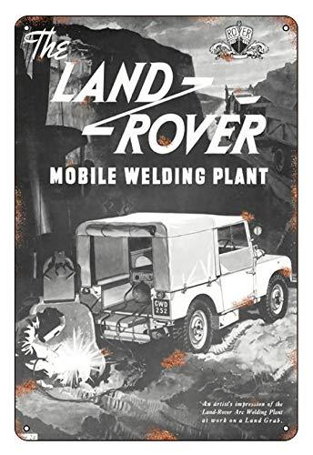 Asher - Placa decorativa de metal retro para Land Rover Defender retro de estaño, publicidad clásica, decoración de pared, diseño del club de cerveza de la familia, tamaño 20 x 30 cm