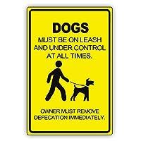 犬の排泄物は健康上の脅威への脅威であり、法律で義務付けられている犬の後のクリーンアップ メタルポスタレトロなポスタ安全標識壁パネル ティンサイン注意看板壁掛けプレート警告サイン絵図ショップ食料品ショッピングモールパーキングバークラブカフェレストラントイレ公共の場ギフト