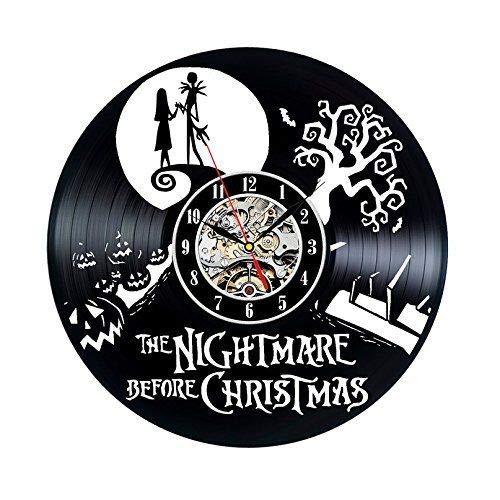 Vinilo Record Reloj Pesadilla Antes de Navidad Decoración de Pared