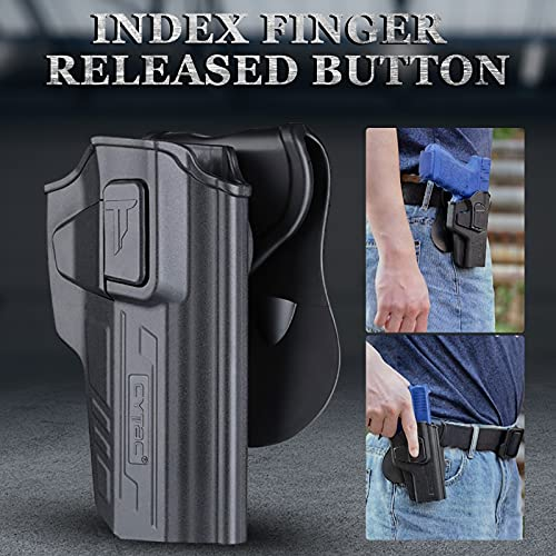 Beretta 92 FS Holsters, OWB Holster for Beretta 92 92FS 92G 92X 92S / GSG92 / Girsan Regard MC - Index Finger Released | Adjustable Cant | Autolock | Outside Waistband Carry | Matte Finish -Right Hand