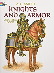 knights and armor historic coloring book