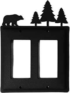 Iron Bear Moose Double Modern Outlet Cover - Heavy Duty Metal Light Switch Cover, Electrical Outlet Covers, Lightswitch Covers, Wall Plate Cover