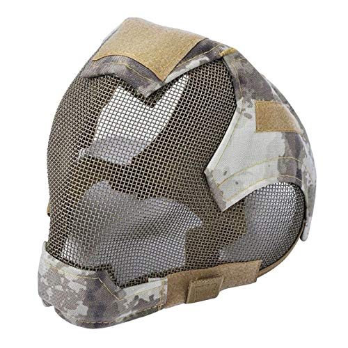 JK-2 Fechten Steel Vollgesichts Mesh Maske Outdoor Airsoft Mask schützende