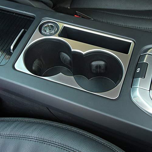 Copertura del supporto della tazza della console centrale dell'automobile dell'ABS cromato 1Pcs per Discovery Sport 2015-2018 accessori dell'automobile (argento)